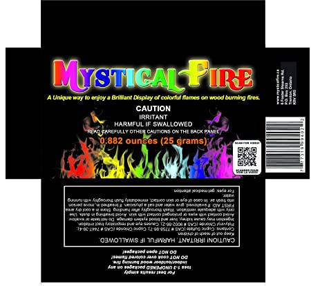 Mystical Fire Flame Colorant Vibrant Long-Lasting Pulsating Flame Color  Changer for Indoor or Outdoor Use 0 882 oz  Packets 3 Pack