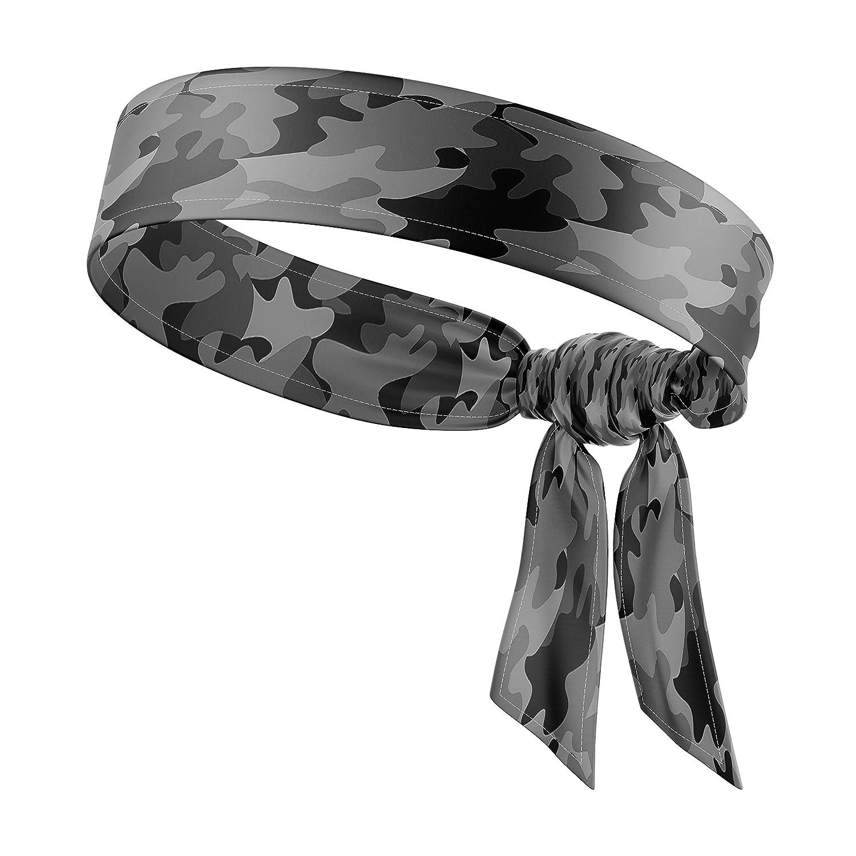 RAVEbandz!!(スターtie-onストレッチヘアバンド、湿気発散tie-back – キュート、ソリッド&カラフルなファッションデザイン – すべてのアウトドアスポーツアスレチックWorkouts &スタイル B07G2MC75B Covert Ops Black  Covert Ops Black
