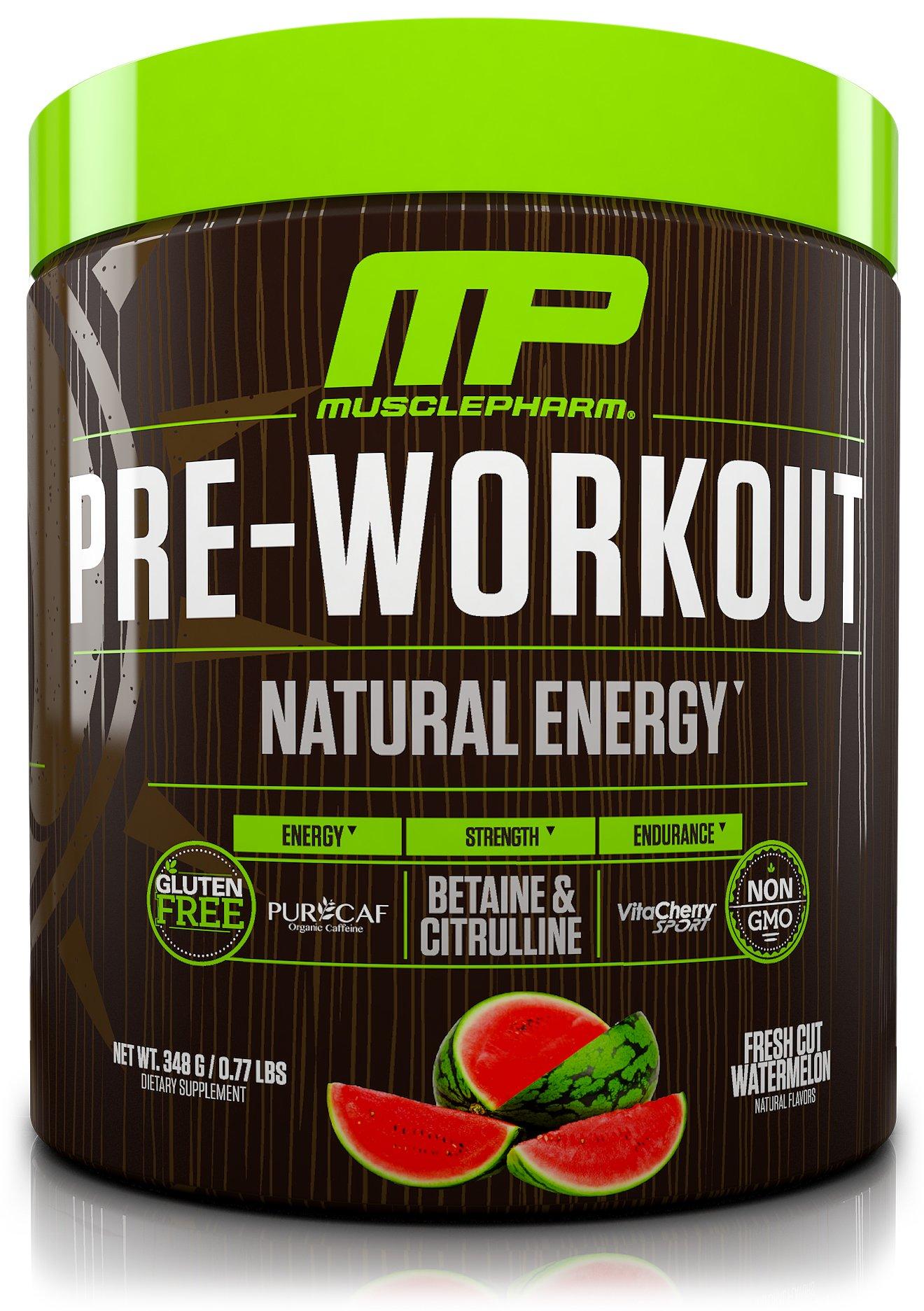 Muscle Pharm Natural Pre Workout Fresh Cut Watermelon, 30 Servings, 0.77LBS/.348g