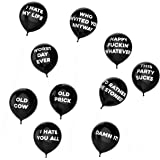 Thick Air Balloons - Funny Adult Humour Balloons For Party 10-Pack - Party Black