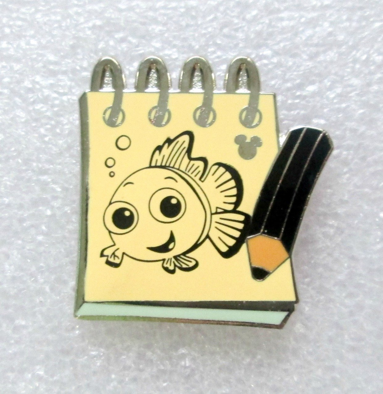 Disney's Hidden Mickey Character Sketch Pads Nemo Disney Trading Pin by Disney