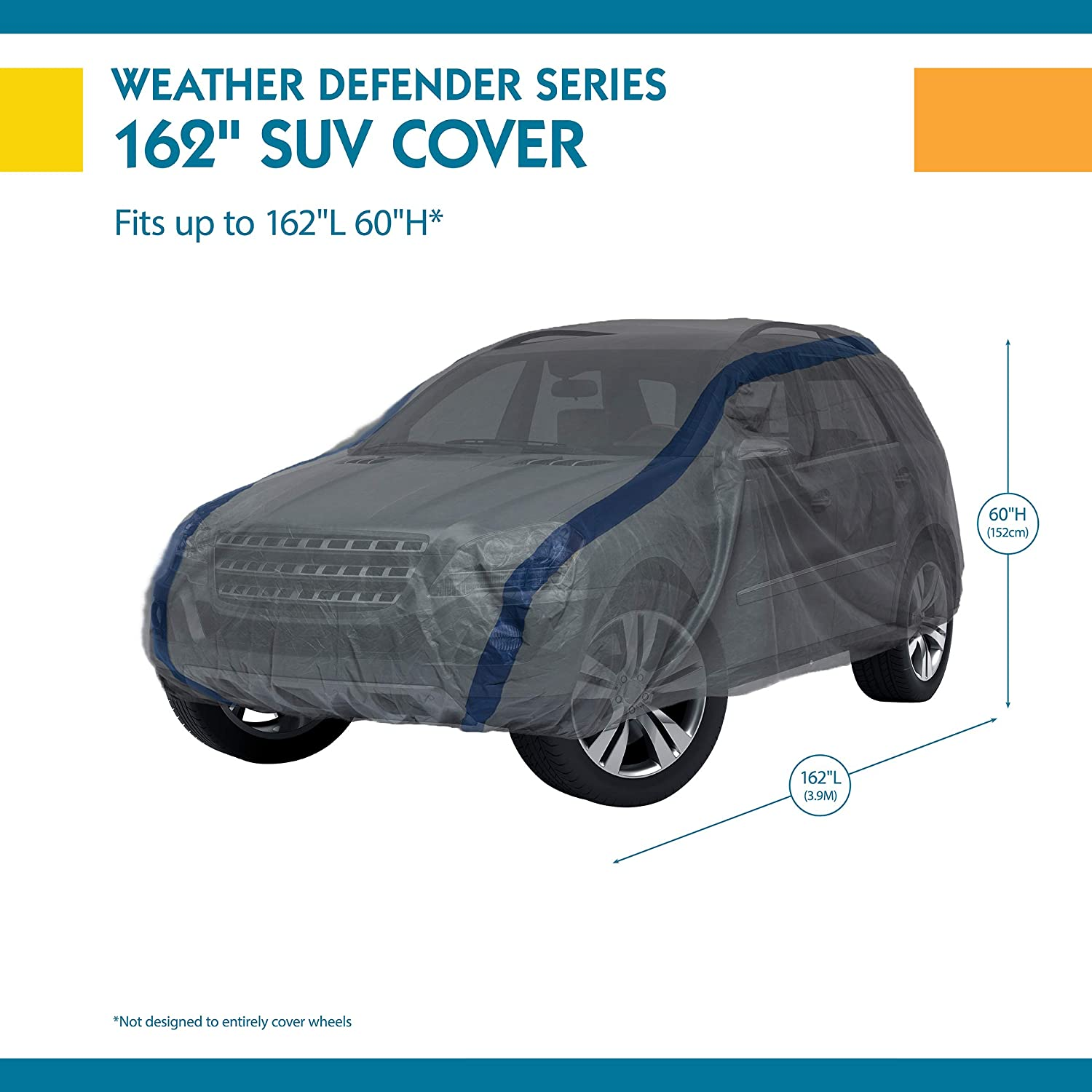 Duck Covers Weather Defender SUV Cover for Jeep Wrangler//SUVs Equivalent Up to 13 6