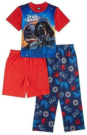 Amazon.com  Star Wars Darth Vader Boys 3-Piece Pajama Set  Clothing 7c390f7cb