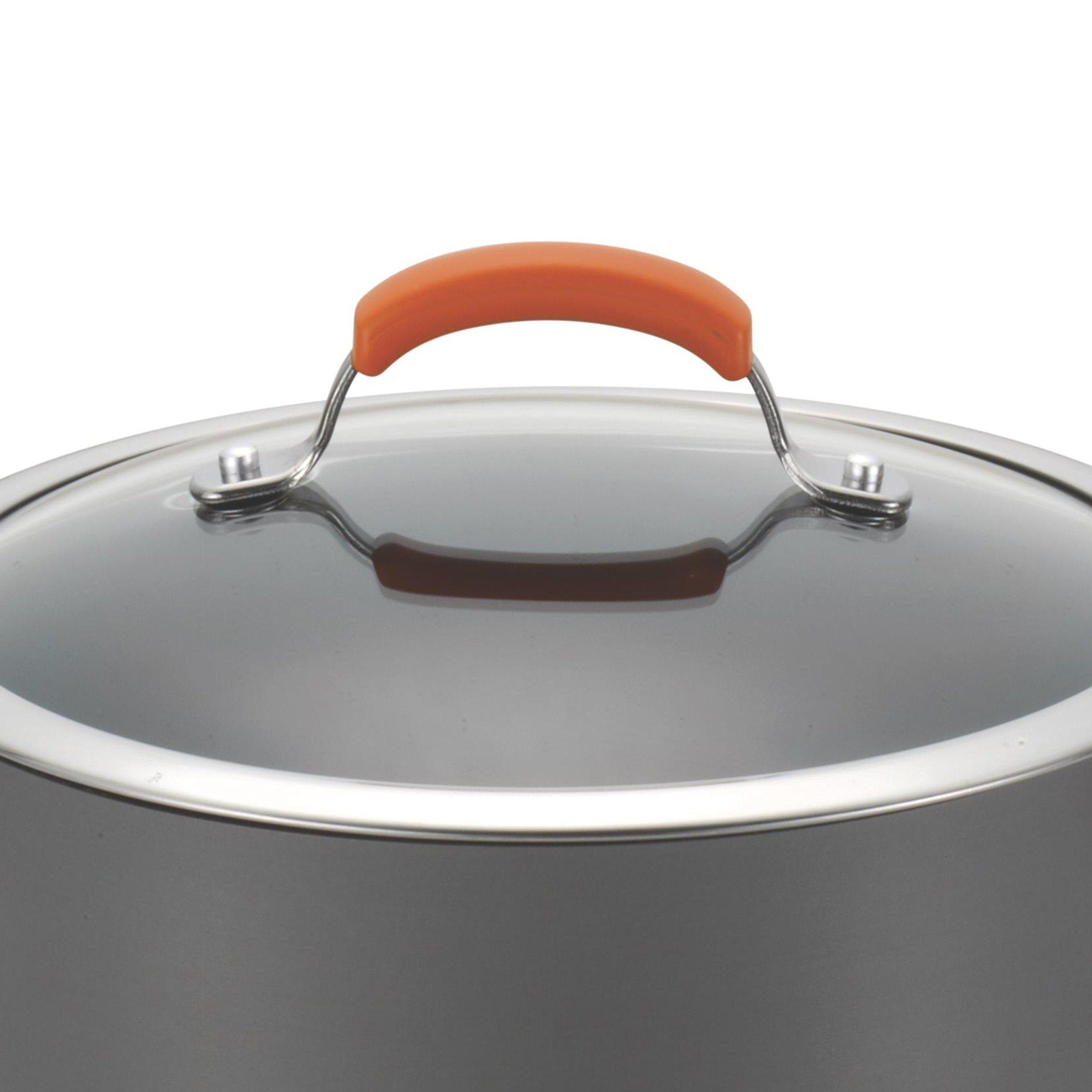 Rachael Ray Hard Anodized II Nonstick Dishwasher Safe 10-Piece Cookware Set, Orange by Rachael Ray (Image #13)