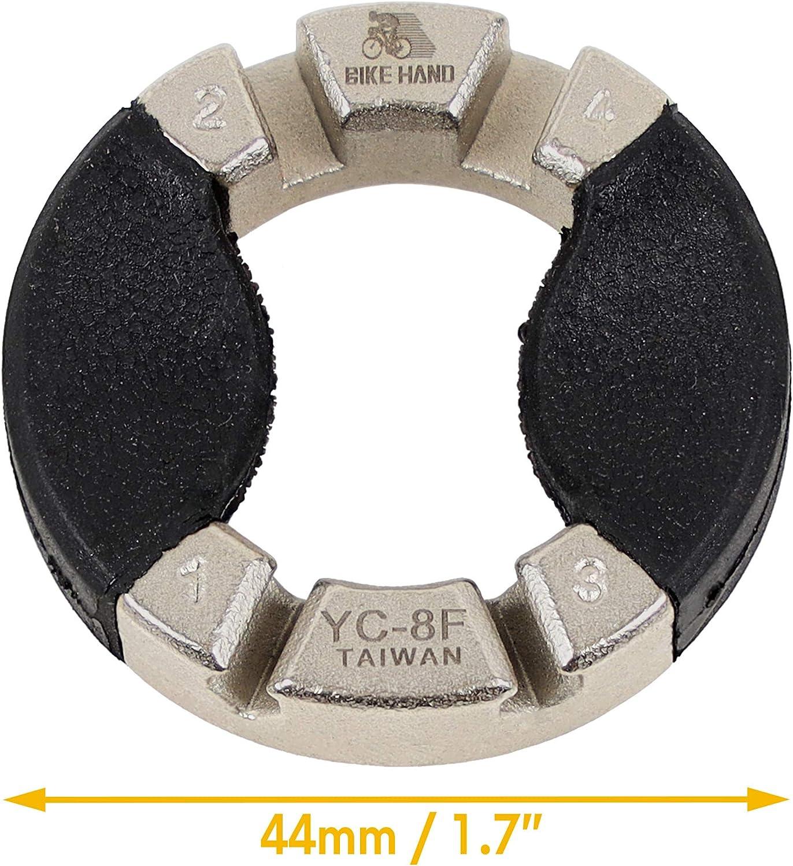 Bike Bicycle 3.2mm//3.3mm//3.5mm//4.0mm Diamond-Shaped Slot Spoke Nipple Key Wheel Rim Truing Tool for Wheel Tension Adjustment BIKEHAND Spoke Wrench 4 Sizes in 1 Tool