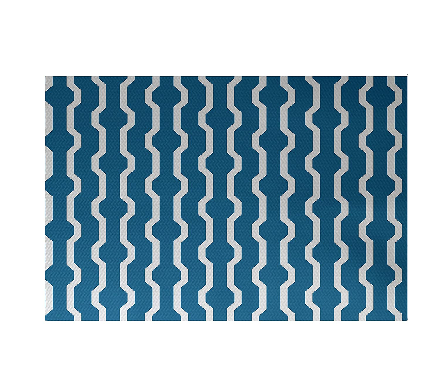 3 by 5 Turquoise E by design RHGN276BL34-35 Nuts /& Bolts Decorative Holiday Geometric Print Rug
