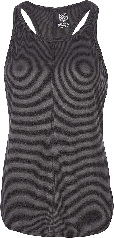 Canottiera sportiva da donna fresca assorbi sudore con ampia apertura sul retro elasticizzata da fitness maglietta traspirante senza maniche sportiva