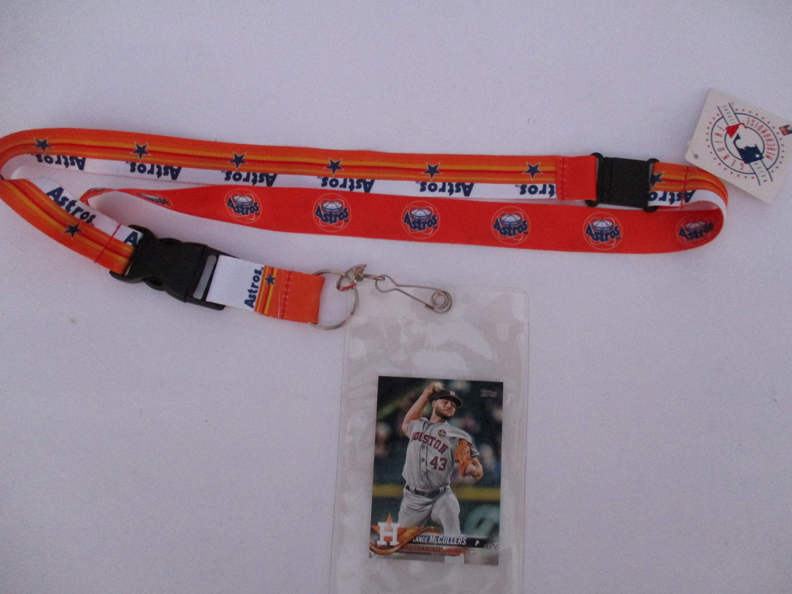 HOUSTON ASTROS RETRO LANYARD WITH TICKET HOLDER PLUS COLLECTIBLE PLAYER CARD