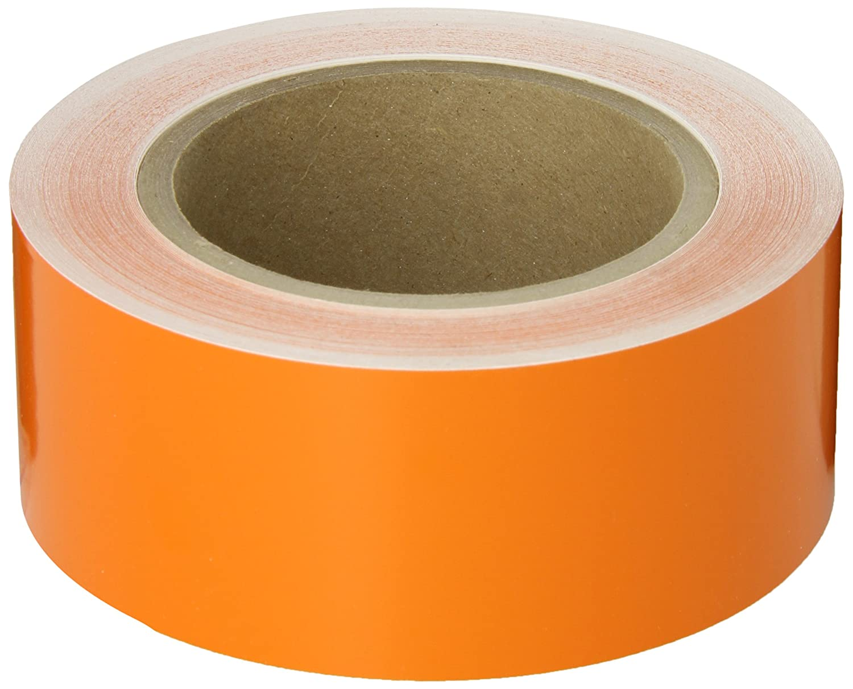 Orange Color Pipe Banding Tape 90 Length Brady 91430 2 Width B-946 High Performance Vinyl
