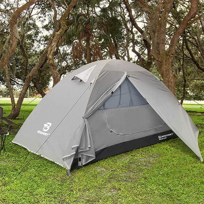 19 opinioni per Bessport Tenda Campeggio per 1-2 Posti Tenda, Impermeabile a Due Porte con Borsa