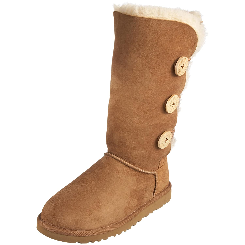ugg australia women's bailey button triplet bomber boots