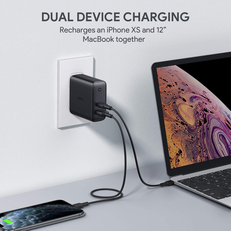 Amazon.com: Aukey - Cargador USB C PD de 60 W con detección ...