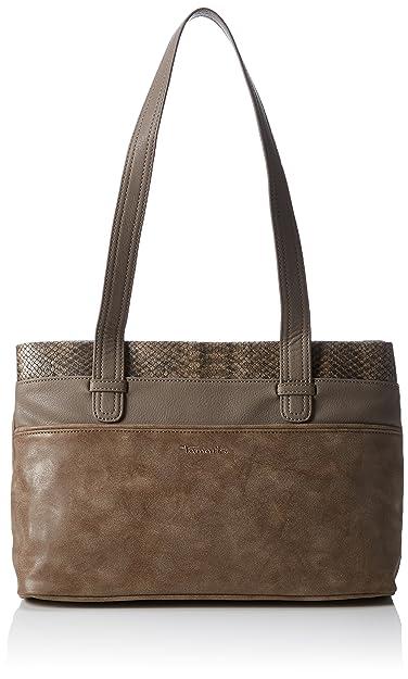 Damen Khema Shoulder Bag Schultertaschen, Braun (Tobacco Comb 320), 32x22x10 cm Tamaris