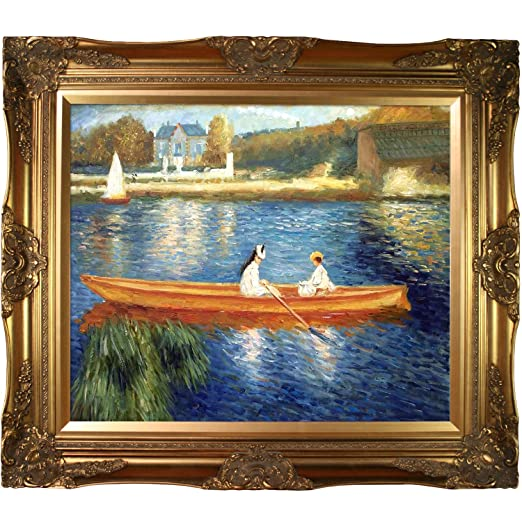 overstockArt Renoir Boating on The Seine Oil Painting with