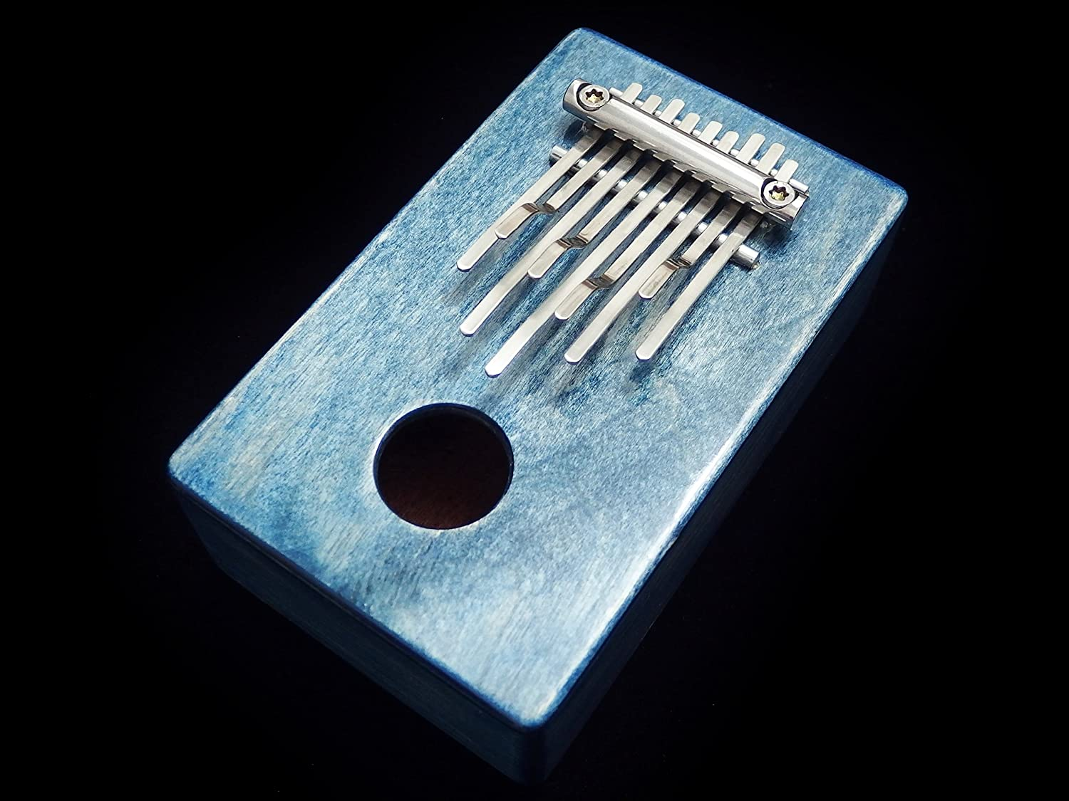 Kalimba / Shamanic rainbow / (Blue) Sansula Thumb Piano Great sound Shamanicshop