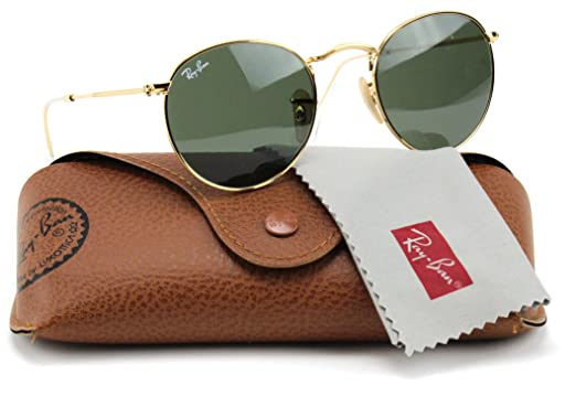 acff2611f86 Image Unavailable. Image not available for. Color  Ray-Ban RB3447 001 Round  Sunglasses Arista Gold ...