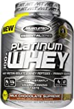 MuscleTech Platinum 100% Whey Protein Powder,  Milk Chocolate Supreme,  5.03 lbs (2.28kg)