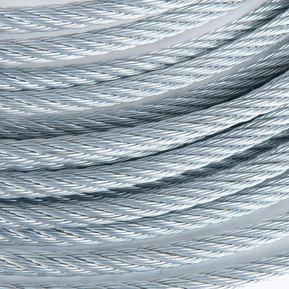 1/2'' 23000lb Galvanized Wire Rope Steel Cable IWRC 6x19 (100 Feet)