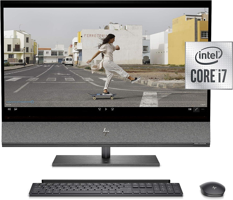 "HP Envy All-in-One PC, NVIDIA GeForce RTX 2070, 10th Gen Intel Core i7-10700 Processor, 32 GB RAM, 1 TB SSD Storage, 31.5"" 4K UHD Display, Wide-Color-Gamut & 600 nits Peak Brightness (32-a1050, 2021)"