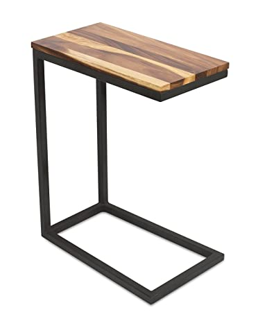 BirdRock Home Acacia Wood TV Tray Side Table | Industrial Design | Natural  Wood Bed Sofa