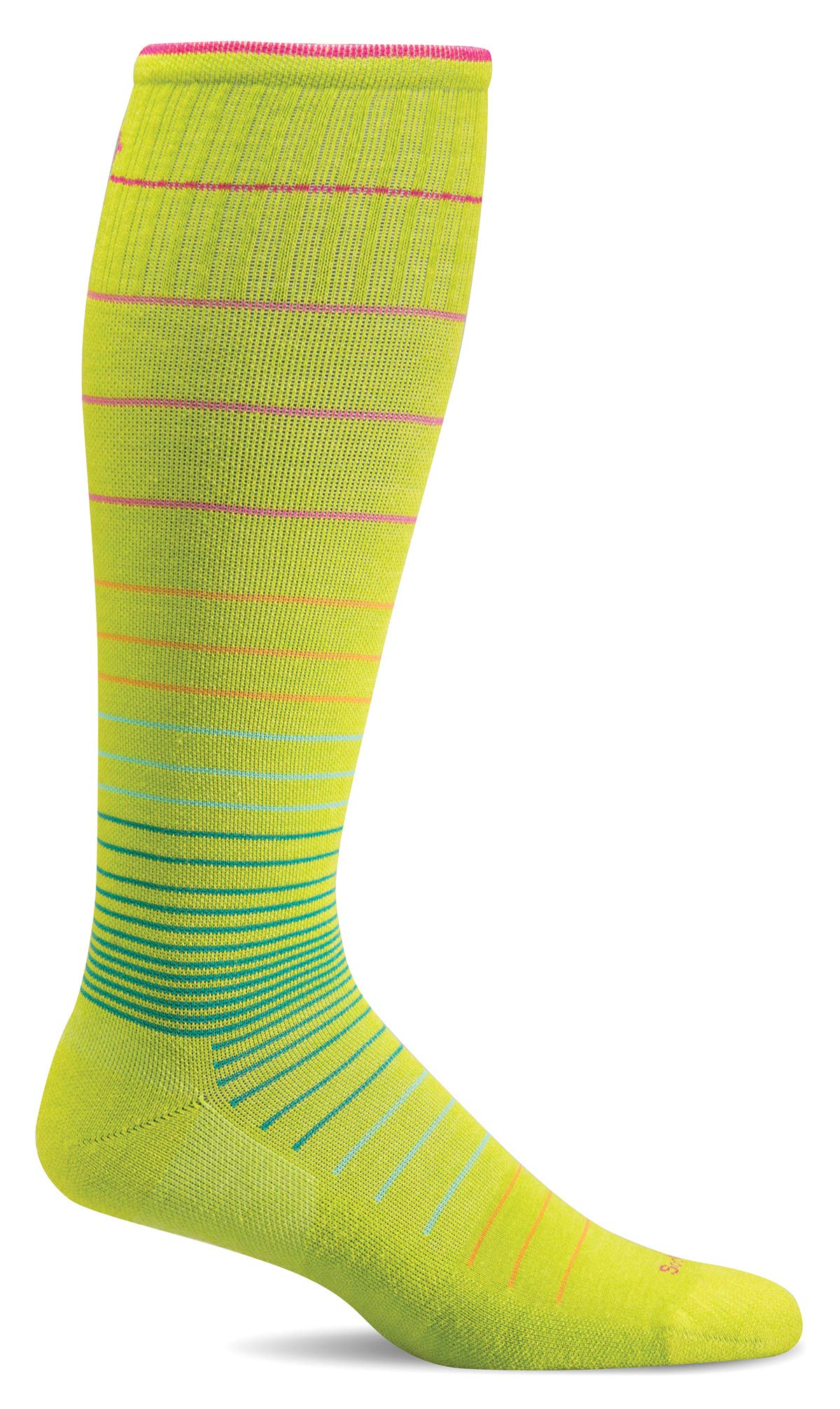 Sockwell Women's Circulator Moderate Compression Socks (Limelight, S/M)