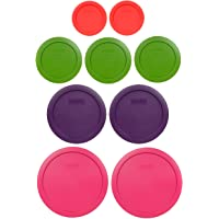 Pyrex (2) 7402-PC 6/7 Cup Fuchsia (2) 7201-PC 4 Cup Purple (3) 7200-PC 2 Cup Lawn Green (2) 7202-PC 1 Cup Red Food Storage Lids
