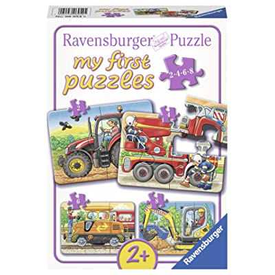 Ravensburger at Work Jigsaw Puzzle (2, 4, 6, 8 Piece): Toys & Games