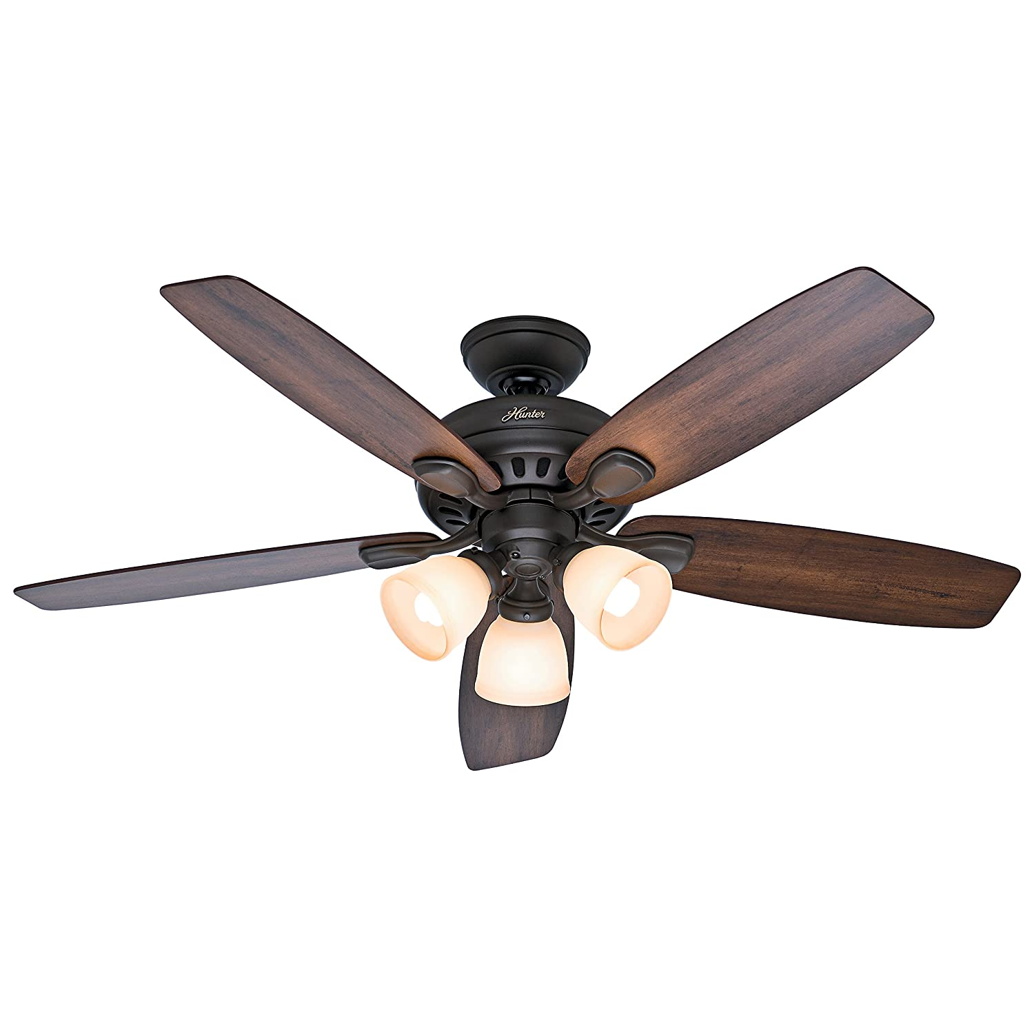 "Hunter Fan 52"" Ceiling Fan in New Bronze with Remote Control and 3"