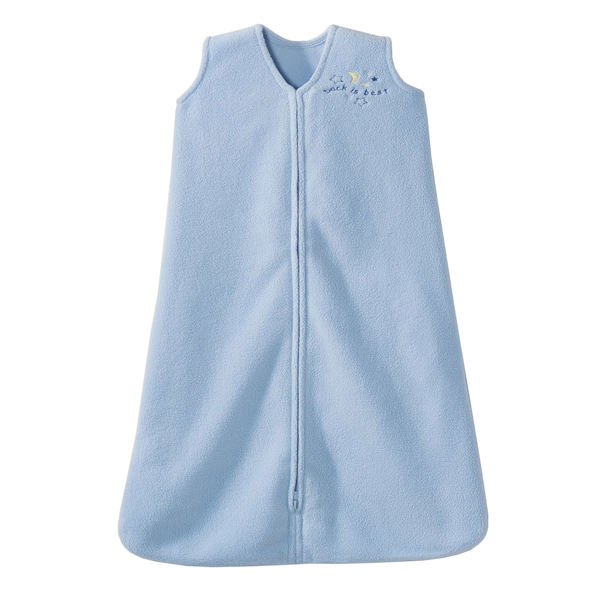 HALO SleepSack Micro-Fleece Wearable Blanket, Baby Blue, Medium