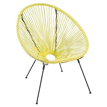 Riess Ambiente Moderner Acapulco Sessel Gelb Gartenstuhl Wetterfest  Outdoorstuhl Relaxsessel Stuhl