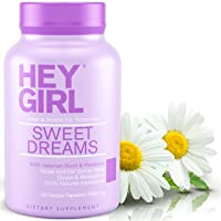 Sleep Aid for Sweet Dreams - Sleeping Pills with Natural Melatonin, L Theanine, Valerian Root, Chamomile, Lemon Balm | Aids Anxiety, Insomnia & Stress Relief | Best Relaxation Gifts for Women