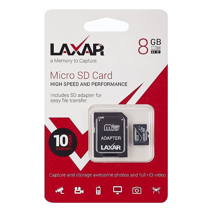 laxar Ultra 8gb MICRO SD TF tarjeta memoria TIPO 10 CON ...