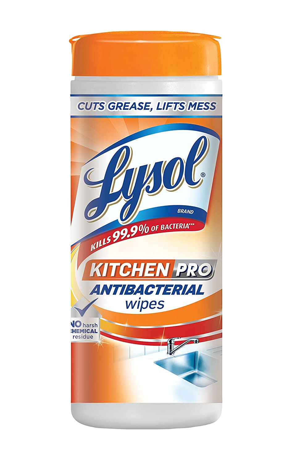 Amazon.com: Lysol Kitchen Pro Antibacterial Disinfecting Wipes, 30ct, No  Harsh Chemicals: Health U0026 Personal Care