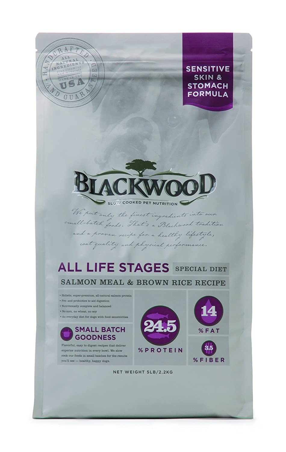 Blackwood Pet Sensitive Skin and Stomach Dog Food Made in USA Special Diet Dry Dog Food to Solve Food Sensitivities Naturally , Ideal For All Life Stages