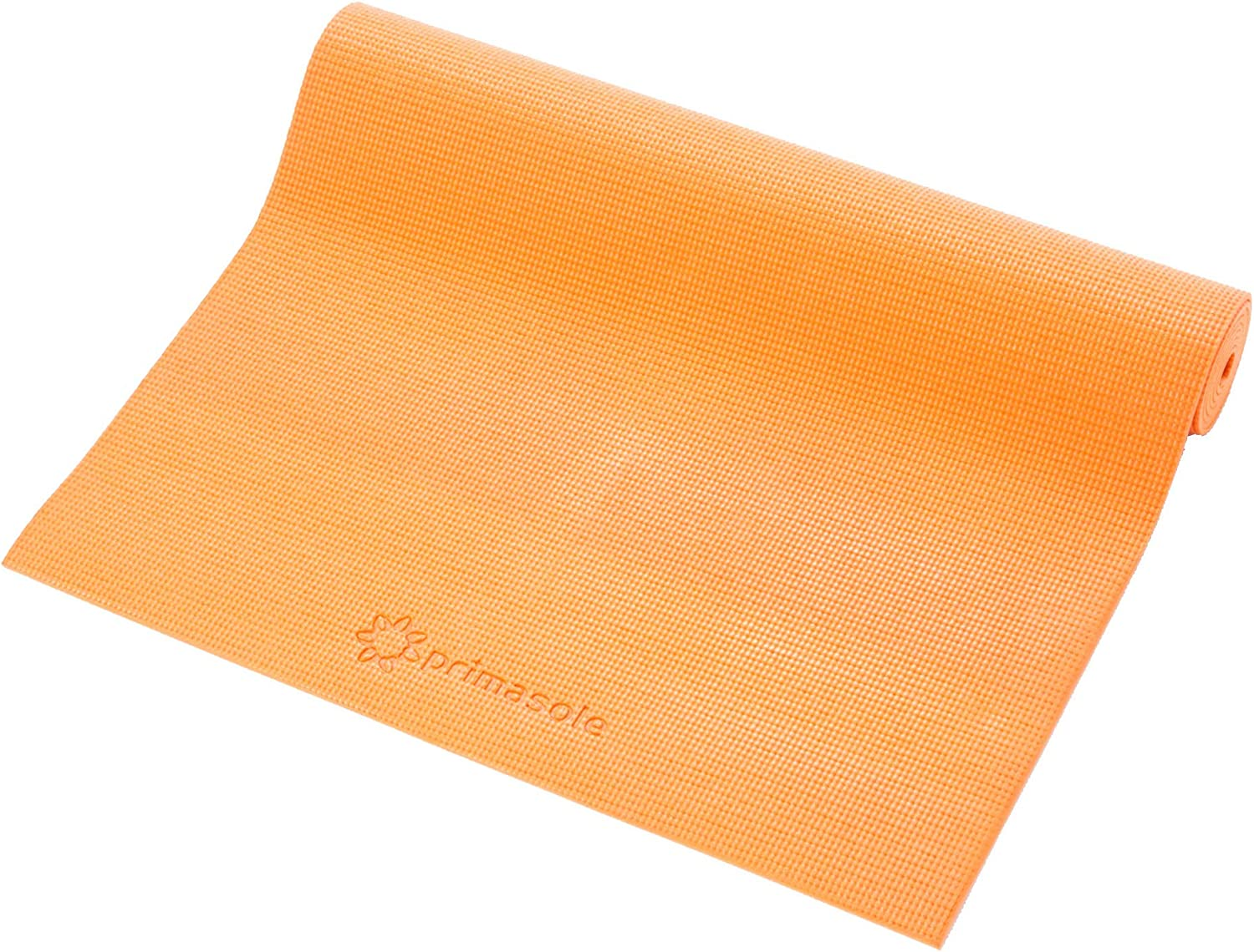 """Primasole Yoga Mat with Carrying Strap 1/4"""" Thick Exercise Mat for Yoga, Pilates, Fitness and Floor Workout at Home & Gym. (Coral Red Color) PSS91NH004A"""