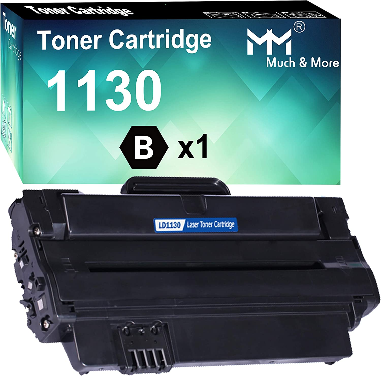 MM MUCH & MORE Compatible Toner Cartridge Replacement for DELL 330-9523 7H53W to Used with DELL 1130 1130n 1133 1135n Printers (Black, 1 Pack)