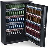 Pavo 8056019 - Llaves/armario/caja fuerte, seguridad AES con seguridad eléctrica, 100 ganchos clave la ranura lateral, gris oscuro
