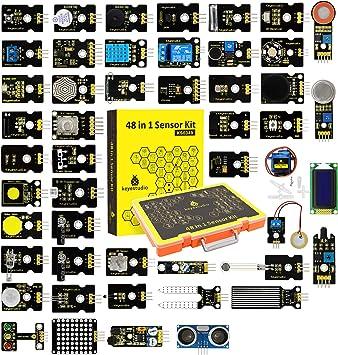 KEYESTUDIO Actualizado 48-en-1 Kit de Módulos de Sensores con ...