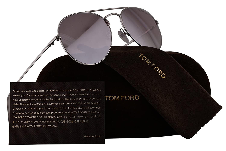 95ca24dea4cf Amazon.com  Tom Ford FT0551 Ace-02 Sunglasses Rhodium Shiny Silver w Violet  Gradient Mirror Lens 18Z TF551 FT551 S TF551 S  Home   Kitchen