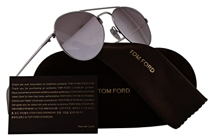 9c1816f9c91 Amazon.com  Tom Ford FT0551 Ace-02 Sunglasses Rhodium Shiny Silver w ...