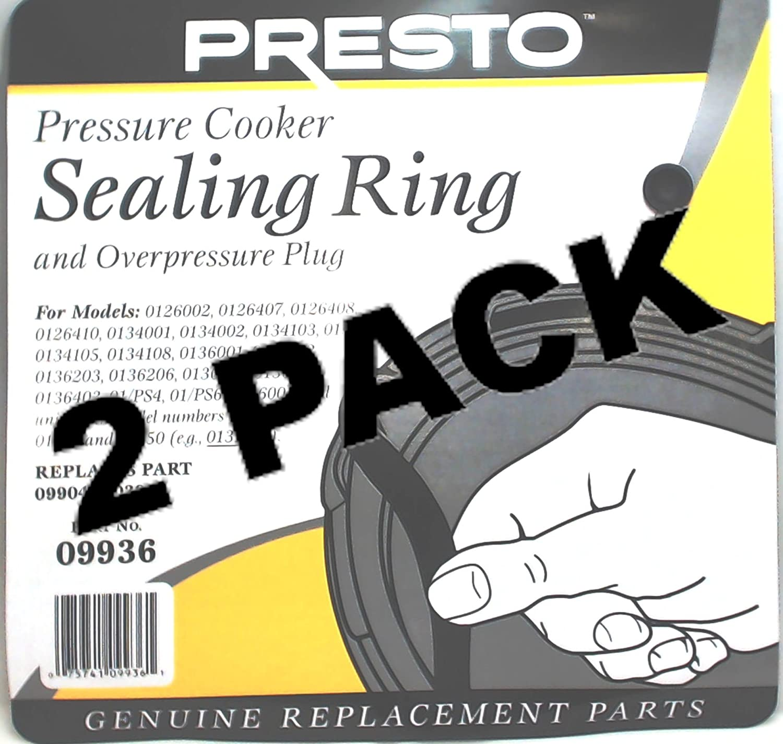 2 Pk, Presto Pressure Cooker Sealing Ring Gasket, 09936 Seneca River Trading