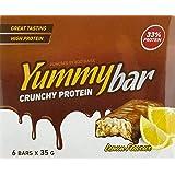 Bodyraise YummyBar Crunchy Protein Bar 6x35g - Suplemento con Sabor a Plátano Lleno de Proteínas - Bajo en Calorías y…