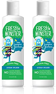 product image for Fresh Monster Kids Shampoo & Body Wash, Ocean Splash |Toxin-Free Hypoallergenic & Natural|(2 Pack, 8.5oz/ea)