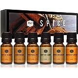 P&J Trading Spice Set of 6 Premium Grade Fragrance Oils - Cinnamon, Harvest Spice, Apple Cider, Coffee Cake, Gingerbread, Pum