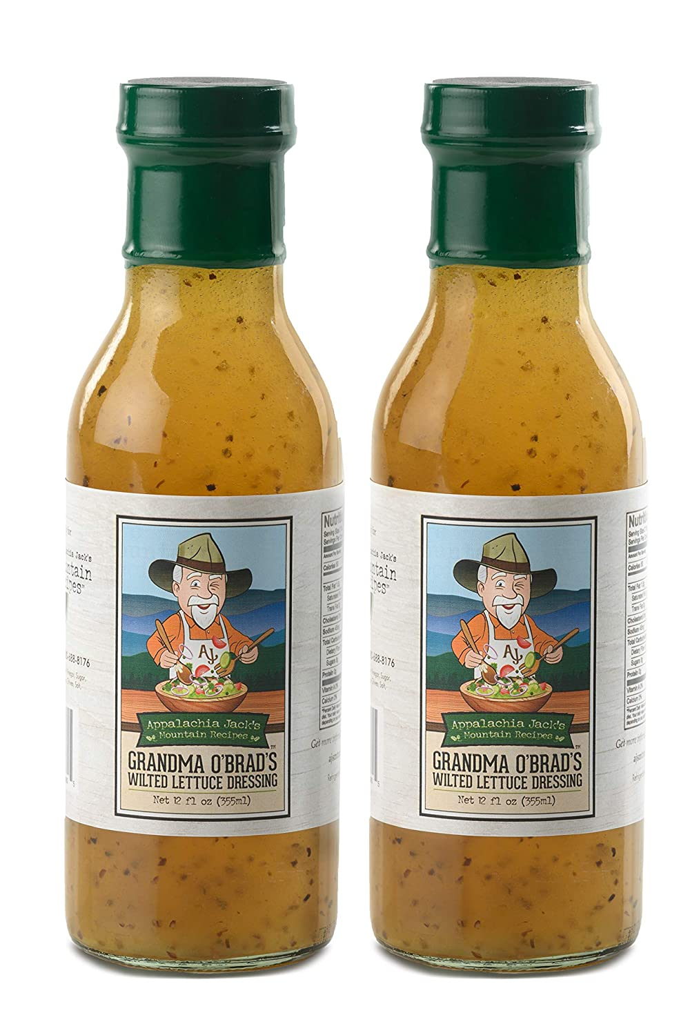 Appalachia Jack's Grandma O'Brad's Wilted Lettuce Salad Dressing - Sweet and Tangy Vinegar Based Dressing, Perfect for Salads and a True Taste of Appalachia - 12oz Bottles - 2 Pack