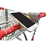 Slimline Cart Cell Phone Holder Mount with Strong Easy Silicon Clip - Suits All Models & Stores Yellow