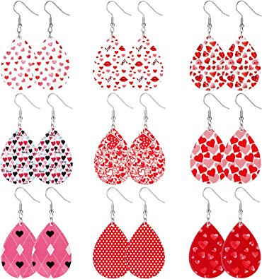 Heart earrings Acrylic earrings Valentines earrings