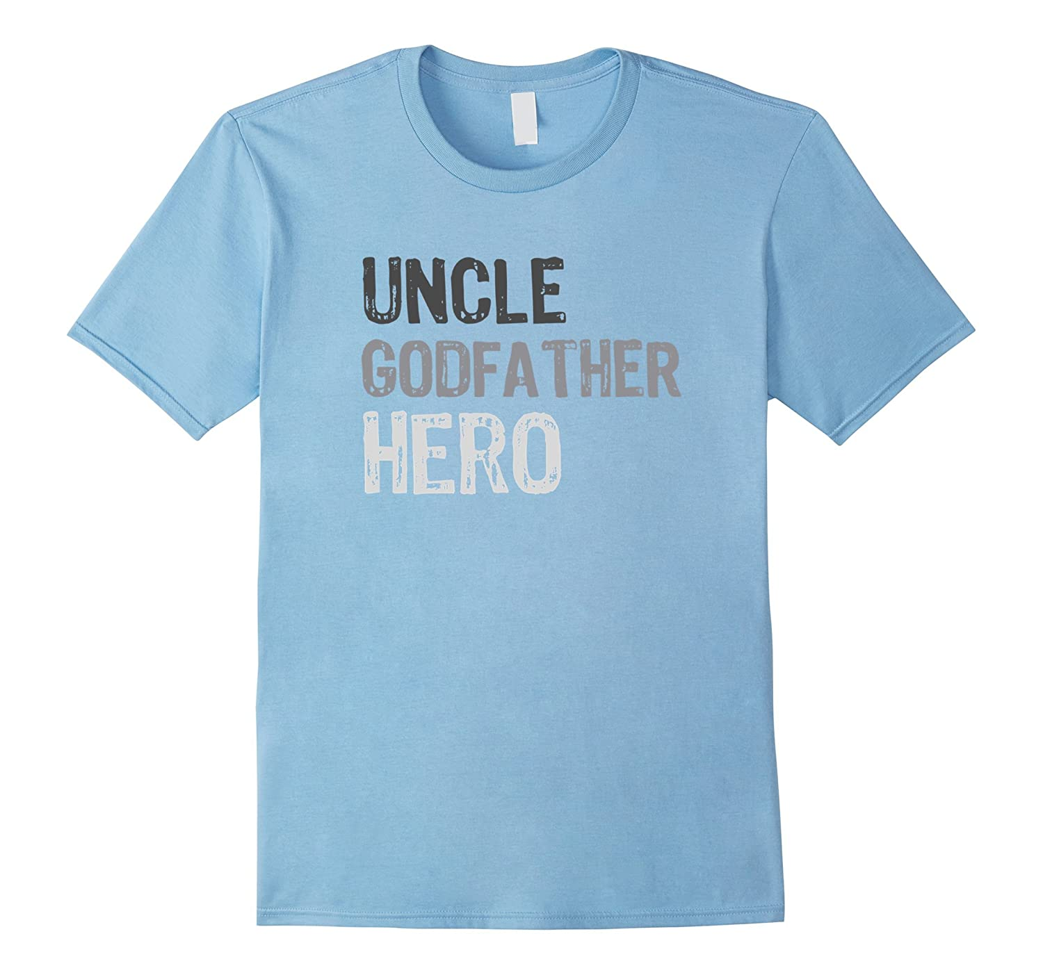 Mens Uncle Godfather T Shirt Black-Veotee