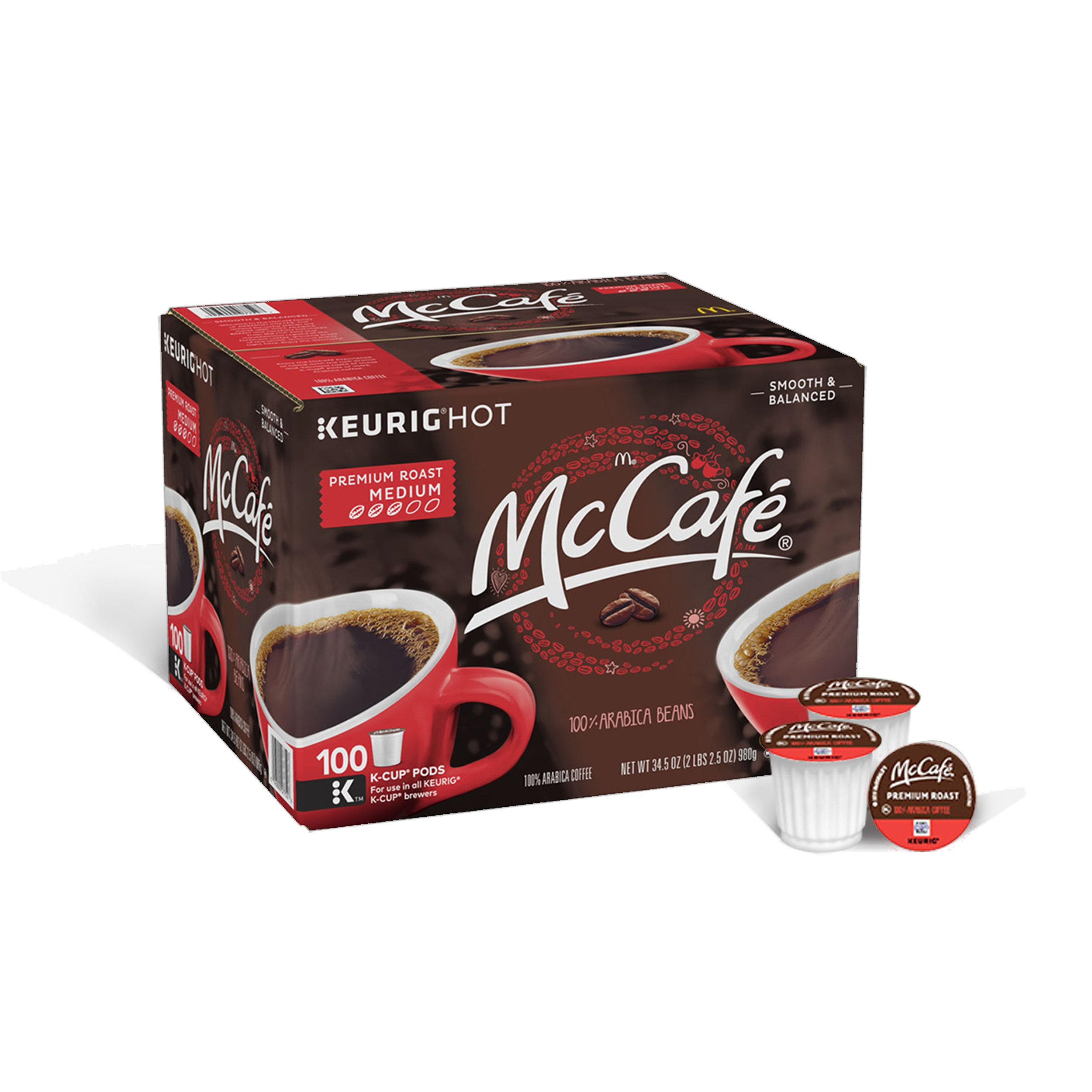 McCafe Premium Roast Coffee, K-CUP PODS, 100 Count by McCafe