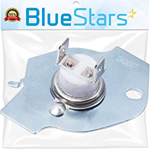 3977393 Thermal Fuse replacement part by Blue Stars - Exact Fit for Whirlpool Kenmore Maytag dryers